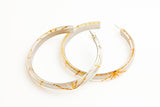 Starcrossed Titanium Hoop Earrings - Large