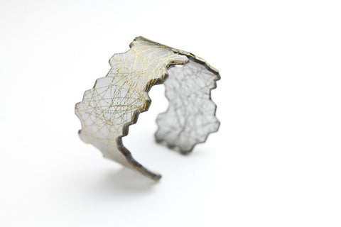 Wisp Gold Honeycomb Cuff - Narrow