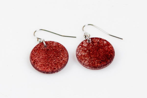 Wild Silk Mulberry Earrings - Circle