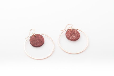 Wild Silk Mulberry Earrings - Double Circle