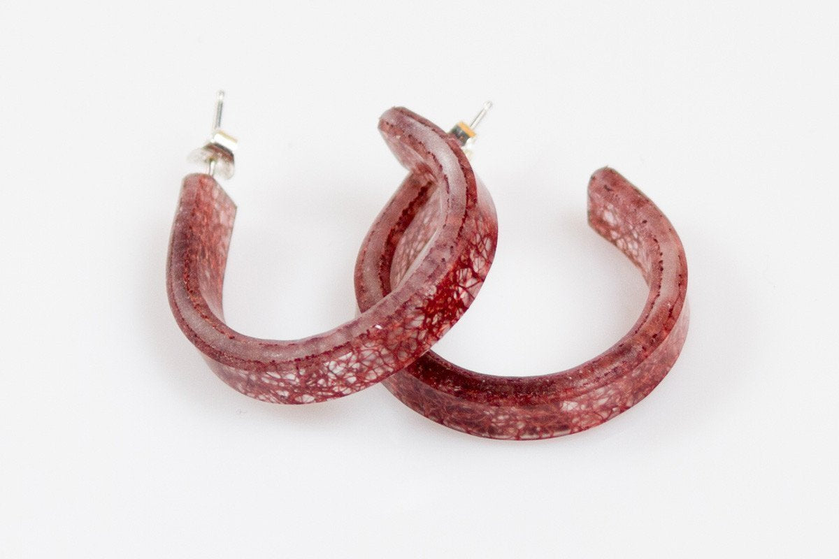 Ecoresin Hoop Earrings - Small