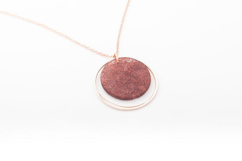 Wild Silk Mulberry Necklace - Double Circle