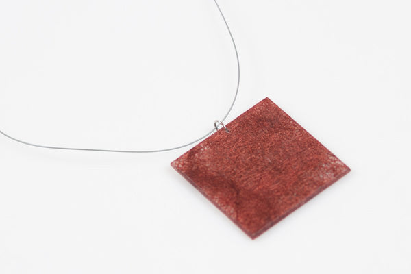 Wild Silk Mulberry Necklace - Lrg Square