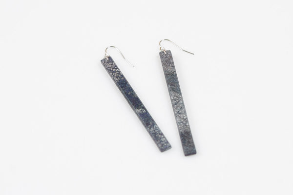 Wild Silk Prussian Earrings - Skinny