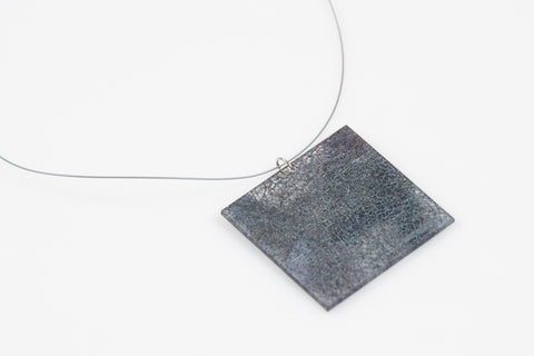 Wild Silk Prussian Necklace - Lrg Square