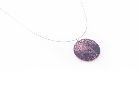 Wild Silk Rose Necklace - Circle