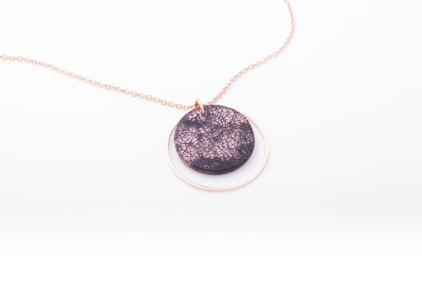 Wild Silk Rose Necklace - Double Circle