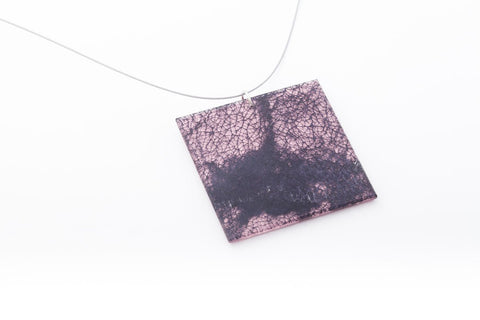 Wild Silk Rose Necklace - Lrg Square