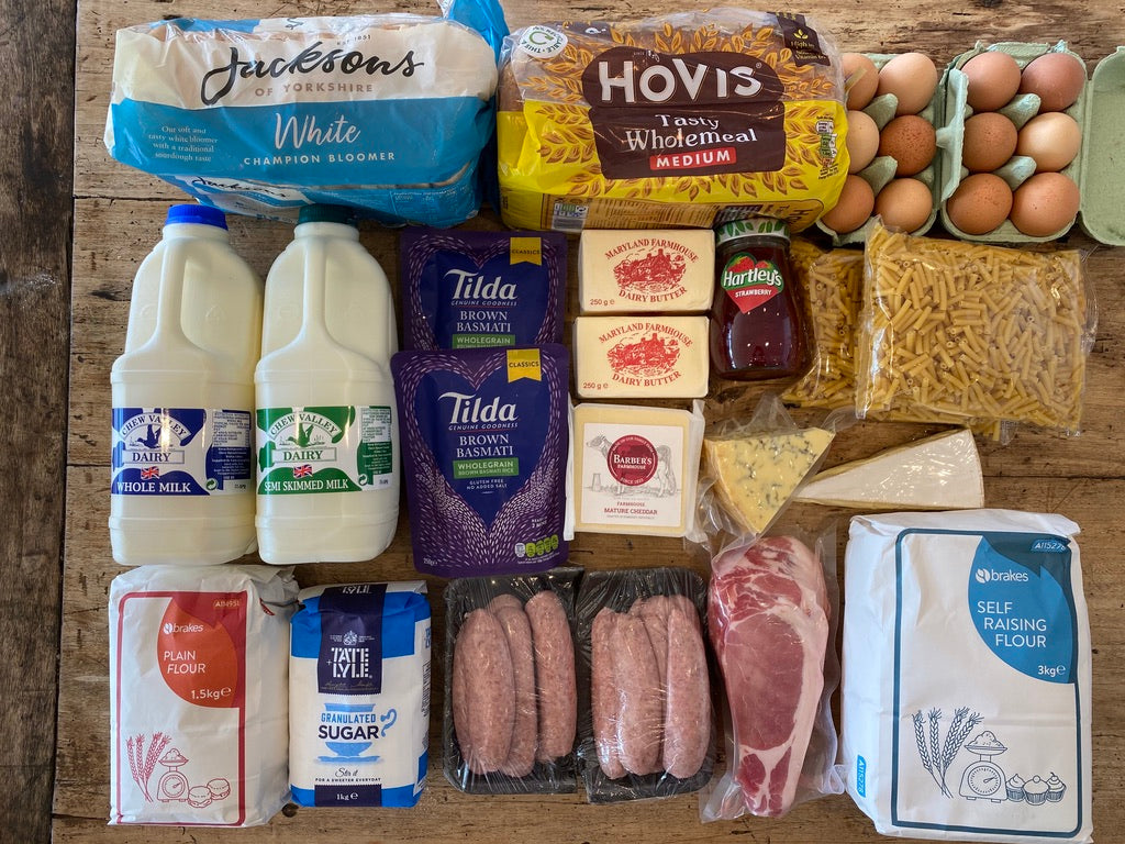 Meat, Dairy & Dry Goods Selection