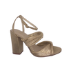 Nude champagne heel in soft leather with slight gold sheen