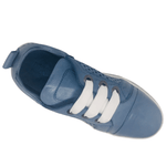 Timboom by Rilassare is a great summer sneaker. Side punching in leather for air flow and coolness. Made in Europe. Available MLadys in blue, khaki and white. Soft leather. Extremely comfortable. Removable insole.