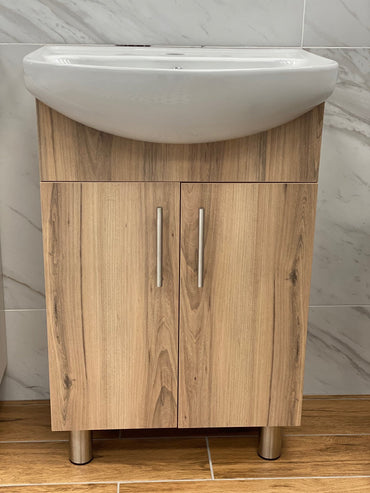 Rose Sahara & Lily White Double Door Vanity Combo