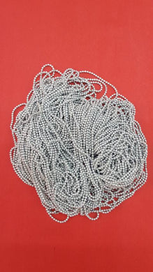 0 Size Ball Chain Silver