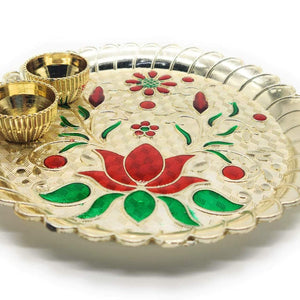 Festival Collection Tray- Kamal Thali Collections