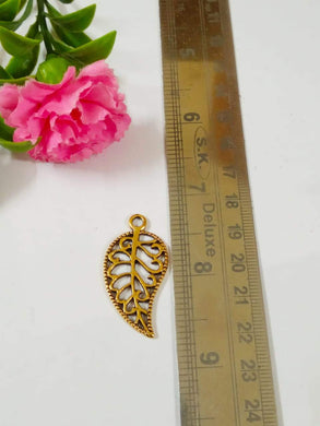 Antique Metal Leaf Gold Pendant/charms & Charms