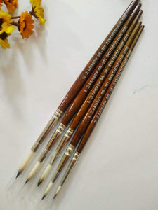 Synthetic Hair Brushes - Round Type 3 Drawing Materials