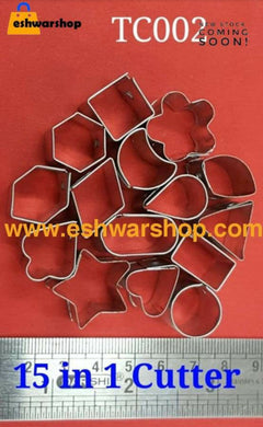 Small Cookie Cutter 15 Pcs Set Terracotta Cutters