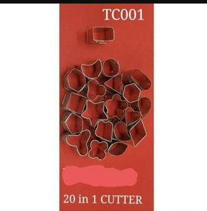 Small Cookie Cutter 20 Pcs Set Terracotta Cutters