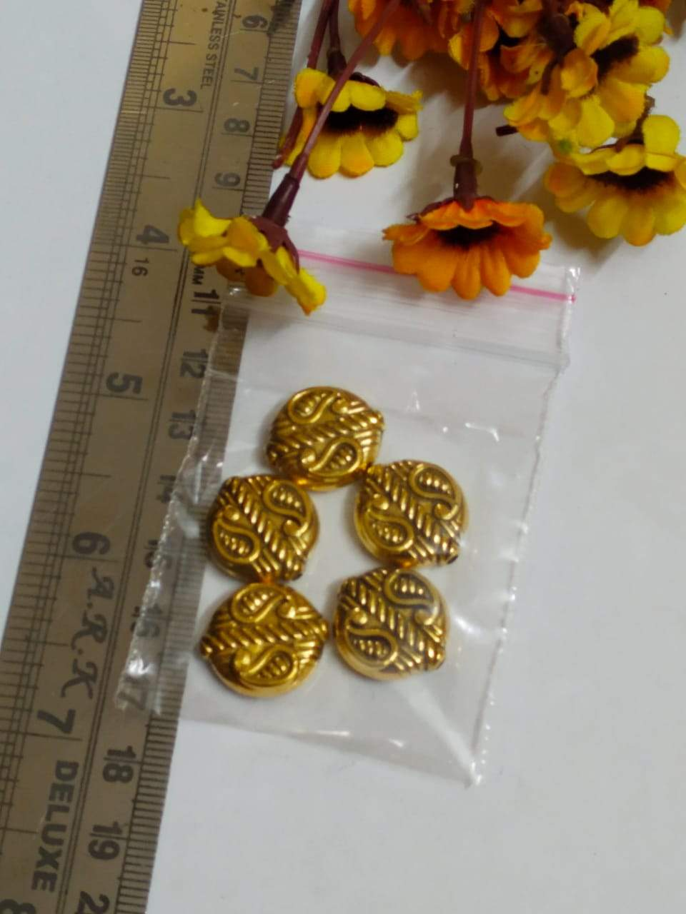 Antique Gold Beads Ccb 20