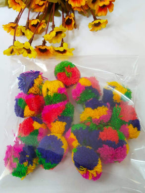 Pompom Big Size-Multi Color Pom