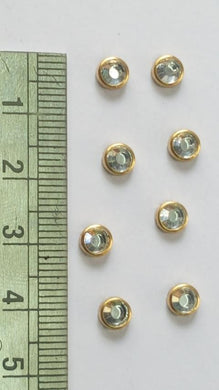 Kundan Stone Flat Back. Round Shape 5 mm (No 222)