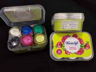 Fevicryl - Acrylic Colors (6 Shades) Fabric Glue & Adhesives