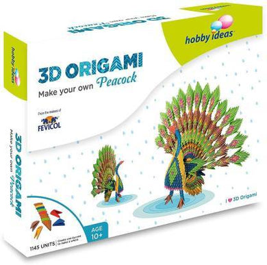 Hobbyideas 3D Origami Make Your Own Peacock Fabric Glue & Adhesives