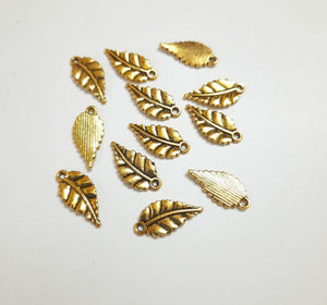 Antique Metal Gold SMALL LEAF AL03