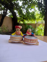 Load image into Gallery viewer, Rajasthani Dolls Puppets Katputli Tealight Diya Candle Holder For Diwali Festival Home Decorations