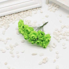 Load image into Gallery viewer, Artificial Paper Rose Flower For Tiara Making Decoration Party Diy Materials 12 X Bunch=144 Pcs