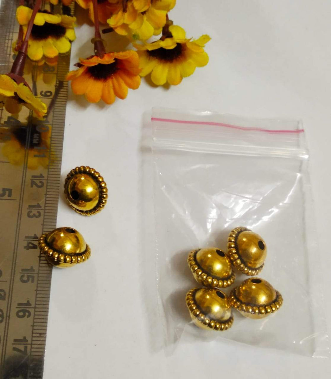 Antique Gold Beads Ccb 6