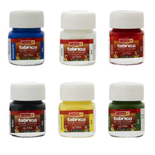 Load image into Gallery viewer, Camlin Kokuyo Fabrica Acrylic Ultra Colors - 10Ml Each 6 Shades Fabric Glue & Adhesives