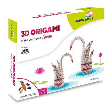 Hobbyideas 3D Origami Make Your Own Swan Fabric Glue & Adhesives