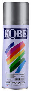 Kobe Acrylic Lacquer Spray For All Purposes-Bright Silver (950) Fabric Glue & Adhesives