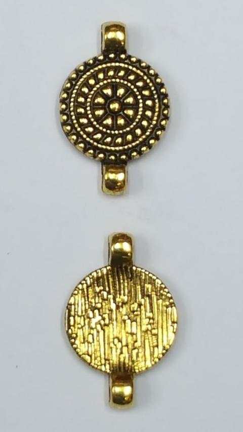 Antique Metal Charm GOLD AL 20