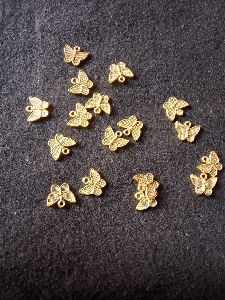 Antique Gold Butterfly Charms- AL50