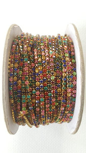 BIG Multi Coloured Stone Chain