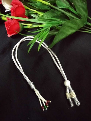 Back Rope PEARL - Silver