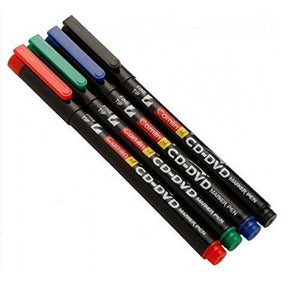 Camlin Cd - Dvd Marker Pen Available In Colors (Black Blue Red Green) Black Stationery Products