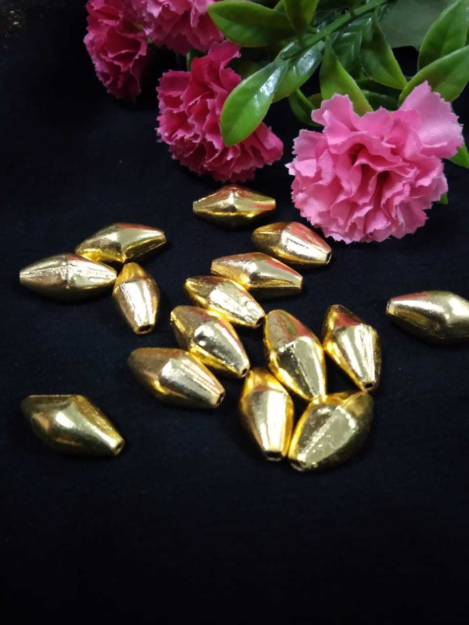 Dholki Beads Gold Big - DLK03