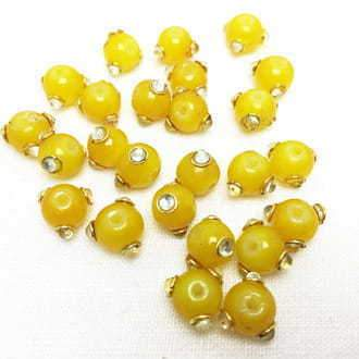 Kundan Beads Yellow
