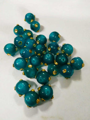 Kundan Beads Greenish Blue