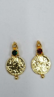 Lakshmi Coins LC 05 D.Green & Maroon (Necklace Making)