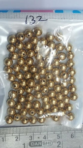 6 mm Antique Gold Plastic