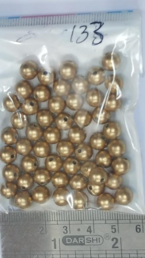 8 mm Antique Gold Plastic