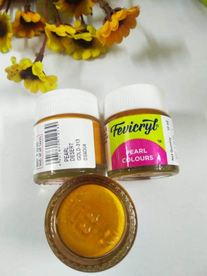 Fevicryl Pearl Colors -Dessert Gold Fabric Glue & Adhesives