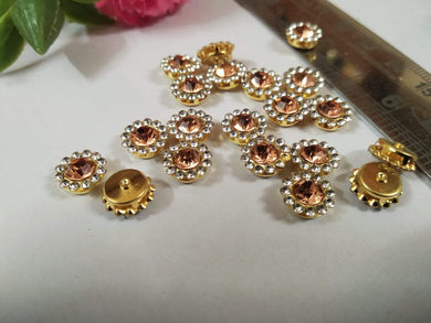 Coloured Stone Kundan/stone Batch- Pink & White (10Mm) Kundan Stones