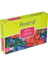 Load image into Gallery viewer, Fevicryl Glass Colours Fabric Glue & Adhesives