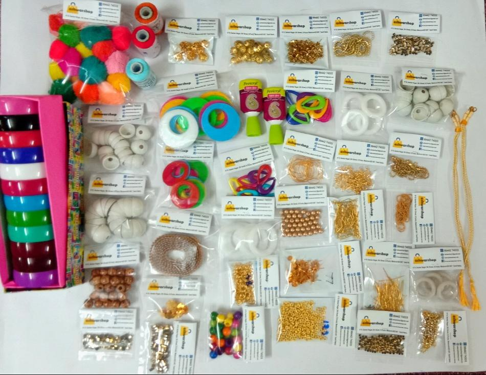 Silk Thread All In One Kit/ Silkthread Jewellery Making Kit Making