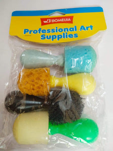 Sponge Brush- 4 In 1 Drawing Materials